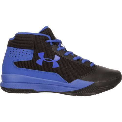 Under Armour Boys' Jet GS Basketball Shoes (Black/Bright Blue, Size 4) - Youth Basketball Shoes at Academy Sports