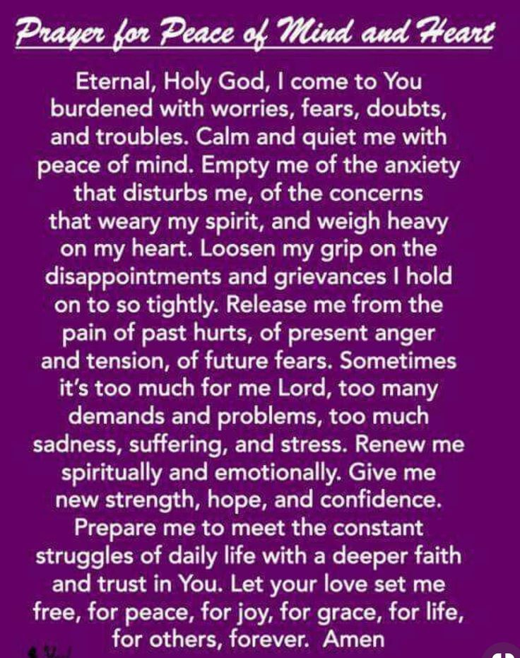 Prayer For Peace Of Mind Images