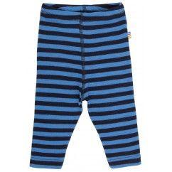 Joha leggings i blå strib og ren uld