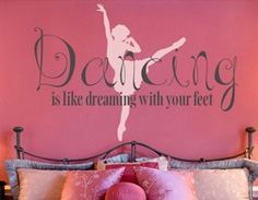 dance wall appliques | Dance & Ballet Theme Bedroom - Girls Dancing Wall Decor