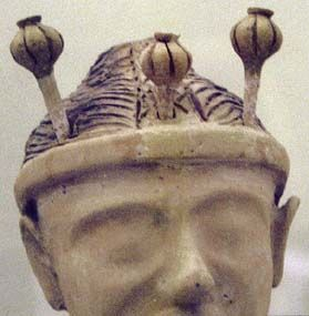 Poppy-headed Goddess. Terra-cotta. 1350 BC.