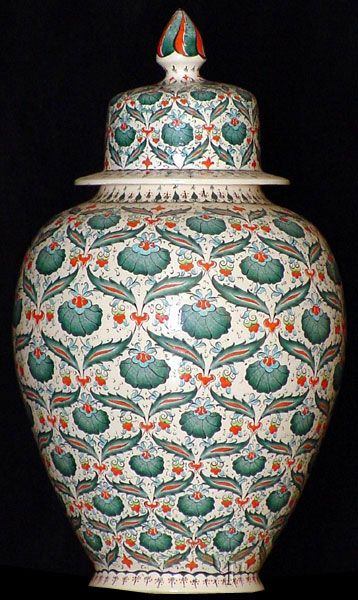 Iznik Design Ceramic Jar - Karanfil yurdan.com