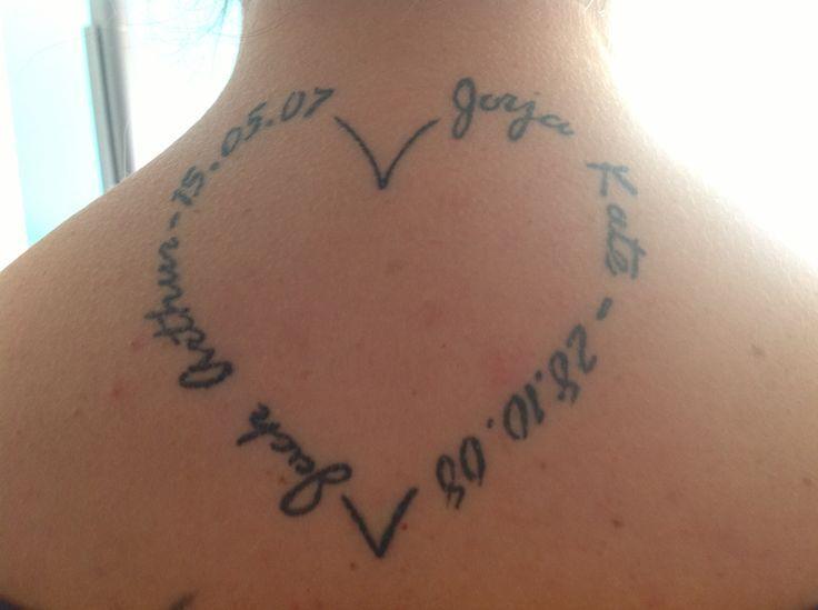 8 best Name Heart Tattoo images on Pinterest   Heart ...