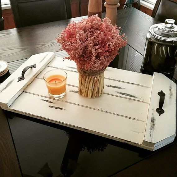 Rustic Farmhouse Table Tray. Table centerpiece. Rustic Home Decor.  These are hand crafted wooden trays that I personally take time to carefully