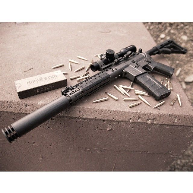 #Omega #suppressor and a #300BLK @noveske_llc #SBR with the #SilencerCo #Harvester line of #ammunition. #Linkinbio for more info. #FightTheNoise