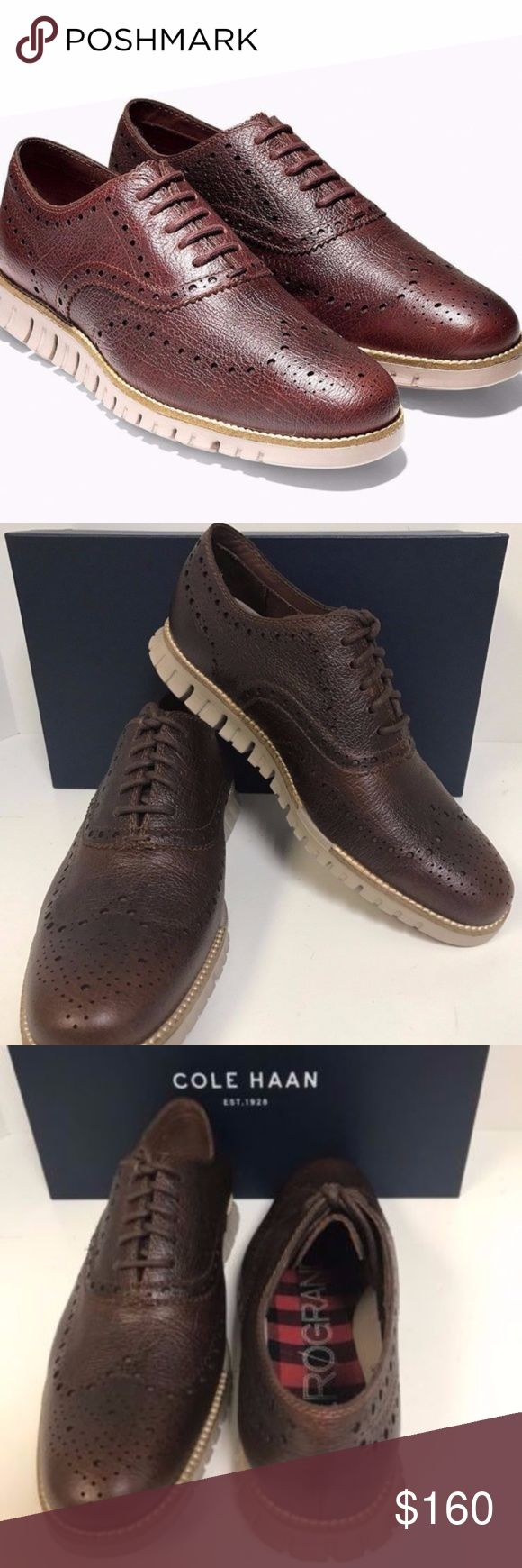 Cole Haan Zerogrand Wing Oxfords (Sz 13 wide) *This is a 13 men's *Wide shoe. For men that wear a size 13 but have a wide foot.  -Brand New in Box -100% Authentic -Excellent Condition -Sz 13 Men (Wide)* -Grand Canyon/Cobblestone color way -Ships doubled boxed -Secured Packaging -Same day/Next day shipping provided Cole Haan Shoes Oxfords & Derbys
