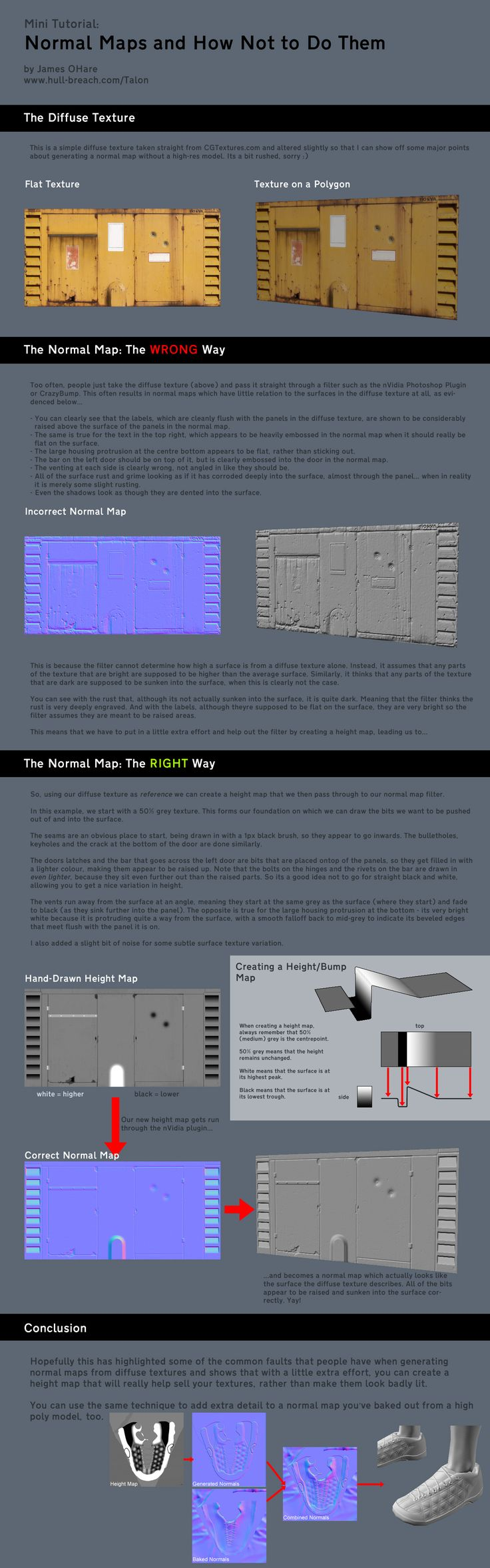 Normal map tutorial.