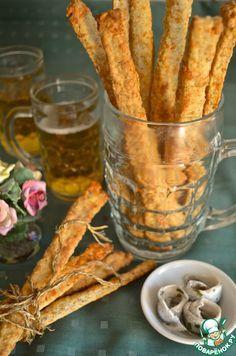 Хрустящие сырные палочки к вину и пиву - кулинарный рецепт
