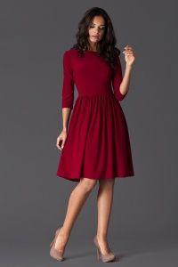 Dzianinowa sukienka z rękawem 3/4 dostępna w sklepie internetowym GrandeSaldi.