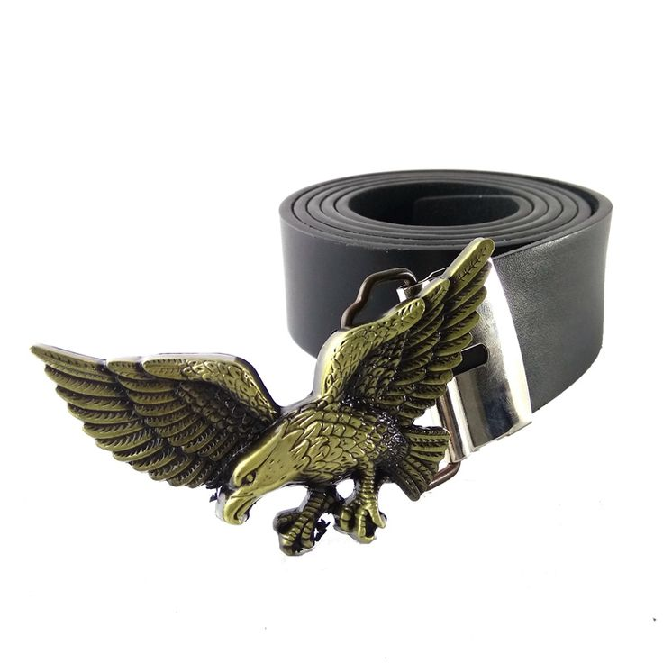 buy high quality western cowboy belts for men with usa american 3d eagle belt buckle black pu #western #belt #buckles