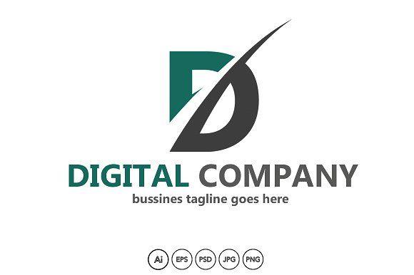 Digital Company logo by HubaStudio on @creativemarket