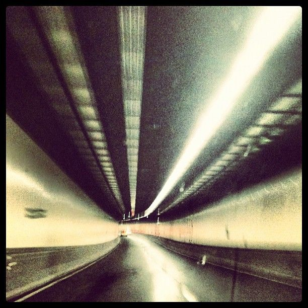 empty Sydney airport tunnel at 5am