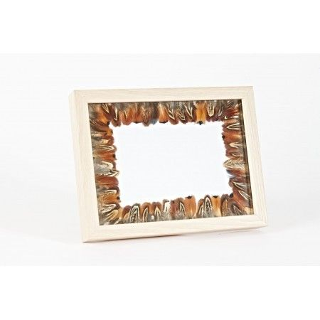 Cock Pheasant Feather Wooden Photo Frame - £27