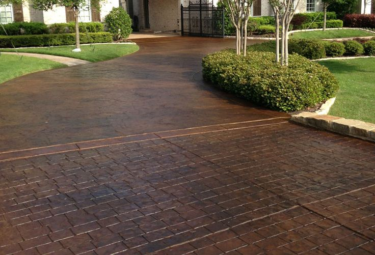 1000 ideas about concrete driveways on pinterest for New driveway ideas