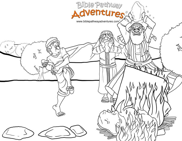 moses golden calf coloring pages - photo#10
