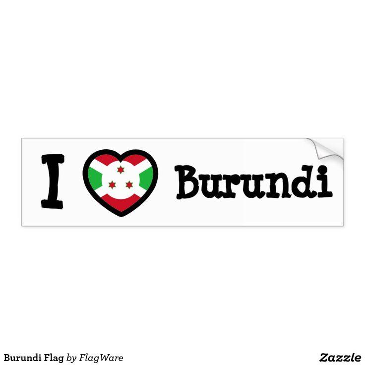 Drapeau du Burundi Autocollant De Voiture