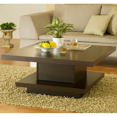 Enitial Lab Karsen Square Coffee Table with Hidden Drawer