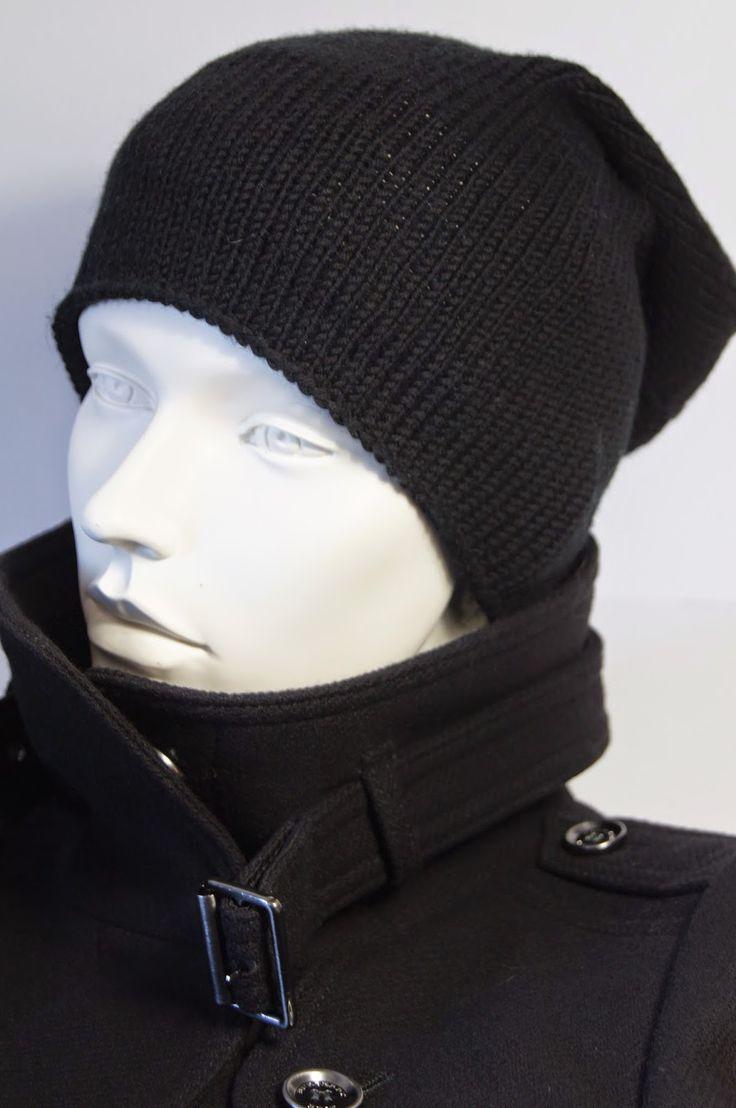Julia Grau Design: # schwarze Beanie-Mütze #