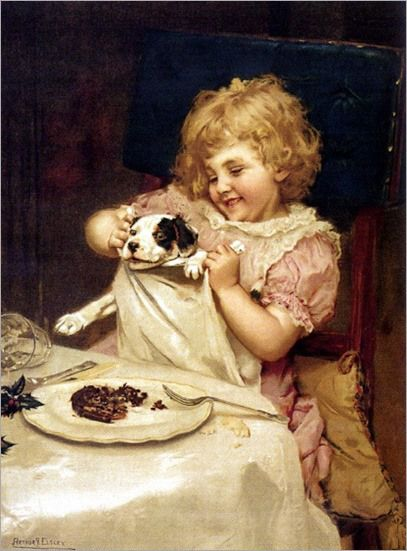 Arthur John Elsley ~ Plum Pudding - Wait A Minute, 1893