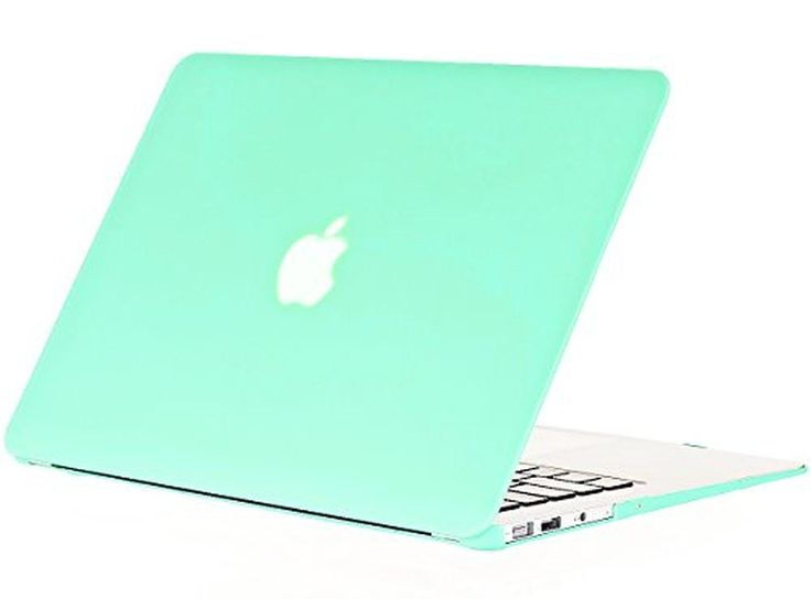 """Kuzy - AIR 13-inch MINT GREEN Rubberized Hard Case for MacBook Air 13.3"""" (A1466 & A1369) (NEWEST VERSION) Shell Cover - Mint Green - Brought to you by Avarsha.com"""