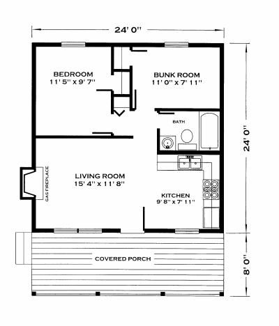 576 sq ft huntsman cabin -- and these plans are just 40 bucks!!