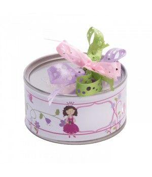 Contenant à dragées boite conserve princesse sur http://www.abcdragees.com