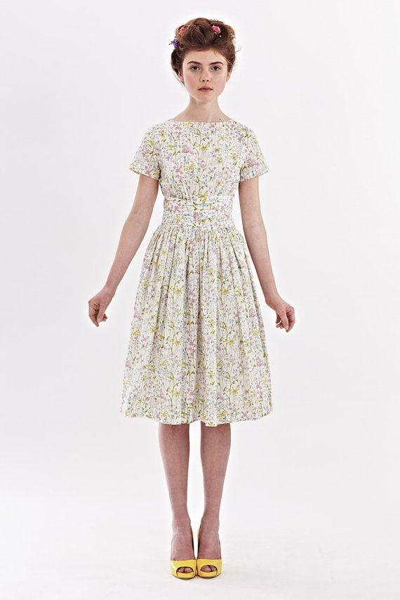 Dress for wedding Floral wedding dress Cotton by mrspomeranz