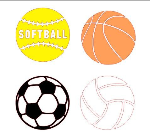 Basic sport decals that are very cute for by DesignByKailey