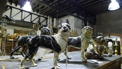 Collection of Antique Dog Doorstops