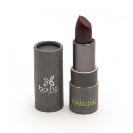 Rouge à lèvres bio figue ouvert photo officielle de la marque Boho Green Make-up