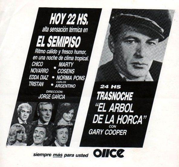 Publicidad de programación. CANAL 11, Buenos Aires, década del 70.                                                                                                                                                                                 Más