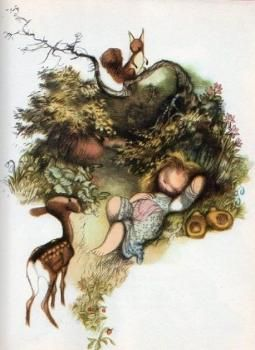 František Hrubín, Pohádka o Květušce a její zahrádce, IlustraceJiří Trnka