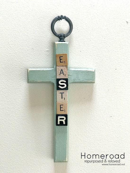 How To Make Scrabble Easter Crosses Easter Cross Diy Projects Easter Scrabble Crafts
