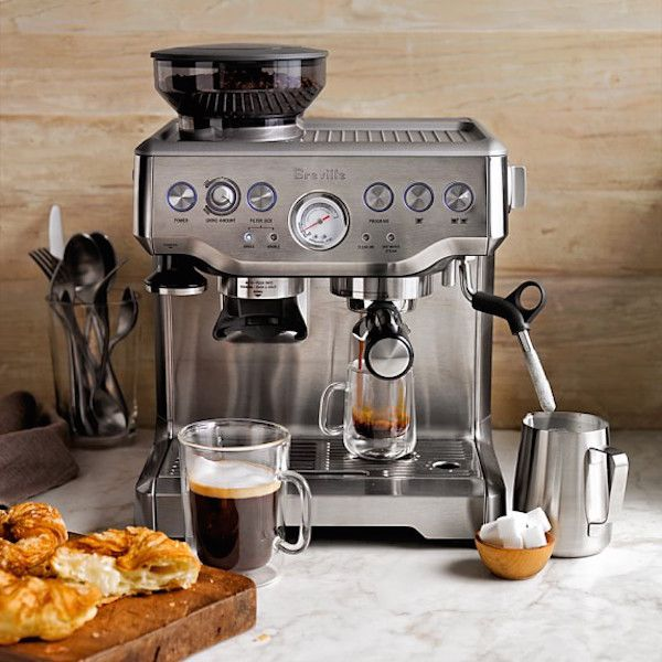 Best coffee makers: The Breville Barista Express lets you make coffee-shop style drinks at home. And they are GOOD. We swear by ours.