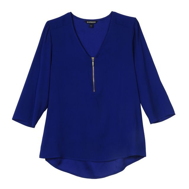 EXPRESS FALL 2013 PIN TO WIN #CONTEST #blouse #blue #zipper #cute #style #fashion
