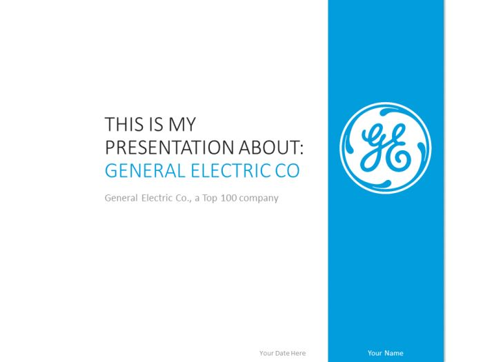 Free General Electric PowerPoint Template