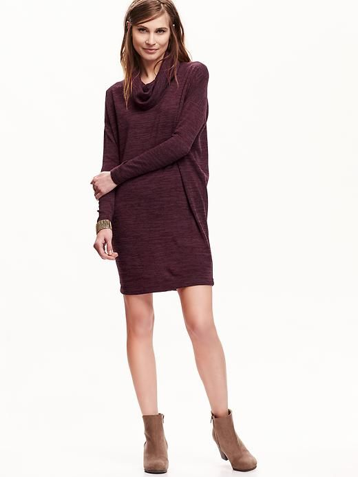 Getting figgy with it, Medium Cowl-Neck Sweater Dress