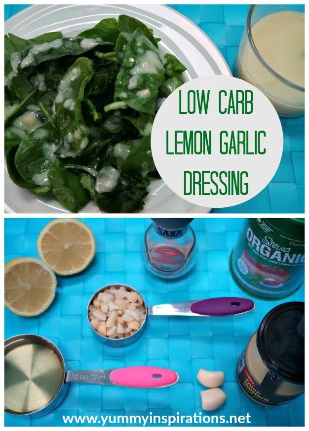 Lemon Garlic Low Carb Salad Dressing