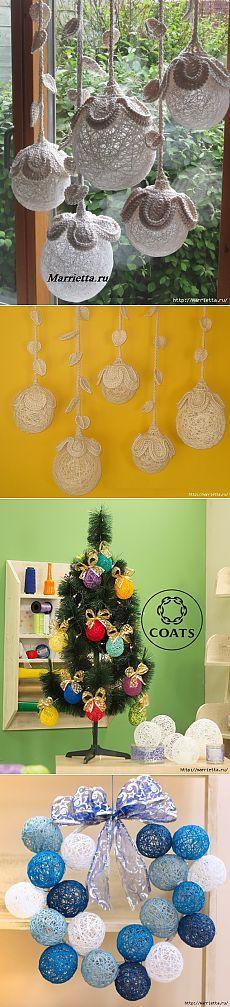 室内装飾のためのスレッドの装飾ボール