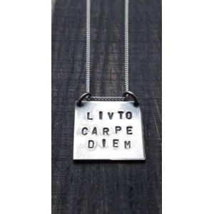 Capture the moment with Livto's picture necklace. Choose your Livto moment and have it hand stamped upon the subtle square pendant. This necklace exudes strength, yet with the carefully crafted finish reflects femininity. Would make the ideal gift for a friend to remind them just how special they really are!  Dimensions of square pendant: 19mm x 19mm approx. Pendant sits on a 9 inch chain.
