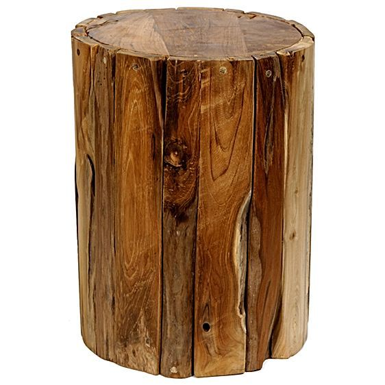 Tropica Driftwood Drum Stool by Soundslike HOME