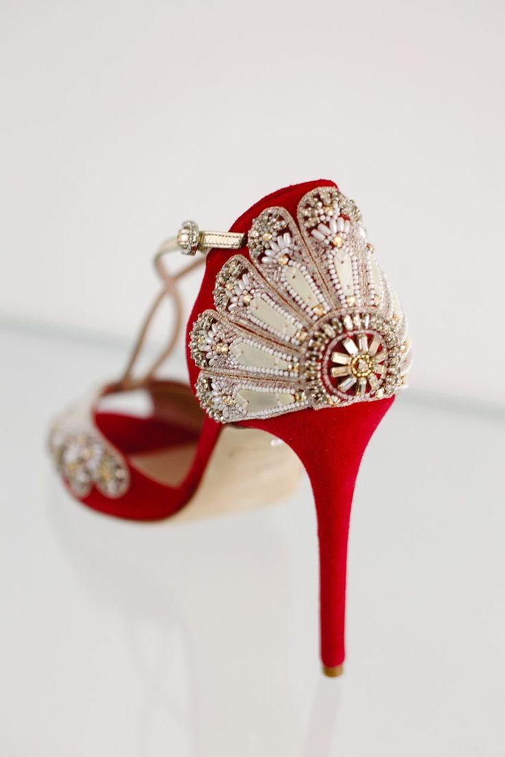 Emmy London's 'Lipstick' Red Bridal Shoe