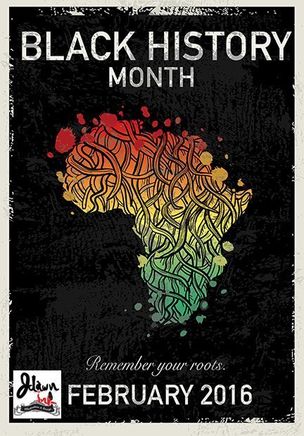 Black History Month February 2016 poster design with African roots