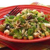 Salade d'orzo à la grecque - Qu'est-ce qu'on mange pour souper