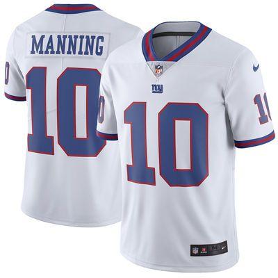 Men's New York Giants Eli Manning Nike White Vapor Untouchable Color Rush Limited Player Jersey