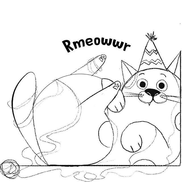 Happy International Cat Day! 🐈😻 #internationalcatday #cat #cats #meow #furryfriend #catsofinstagram #catsagram #sketchbook #sketch #pencil #pencildrawing #blackandwhite #doodles #doodling #instart #instadraw #instadrawing #illustration #childrenillustration #funny
