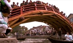 This Rainbow Bridge, built by a NOVA team of experts, was modeled after one designed during the Song Dynasty. Enlarge