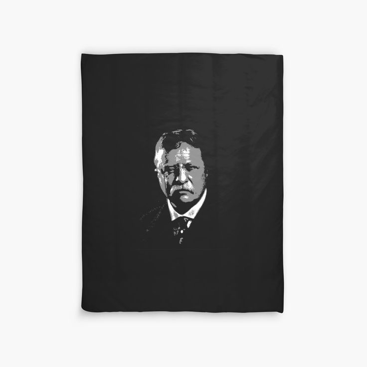 """THEODORE ROOSEVELT (LARGE)"" Duvet Covers by IMPACTEES 