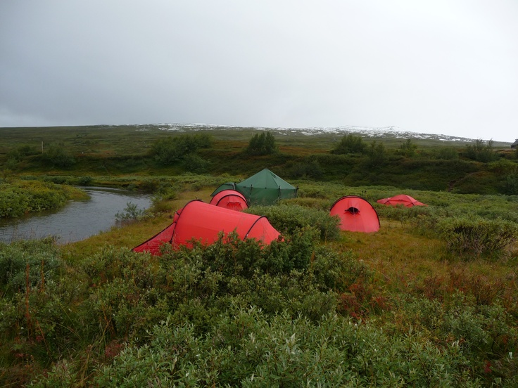 Hilleberg tents in the Swedish countryside