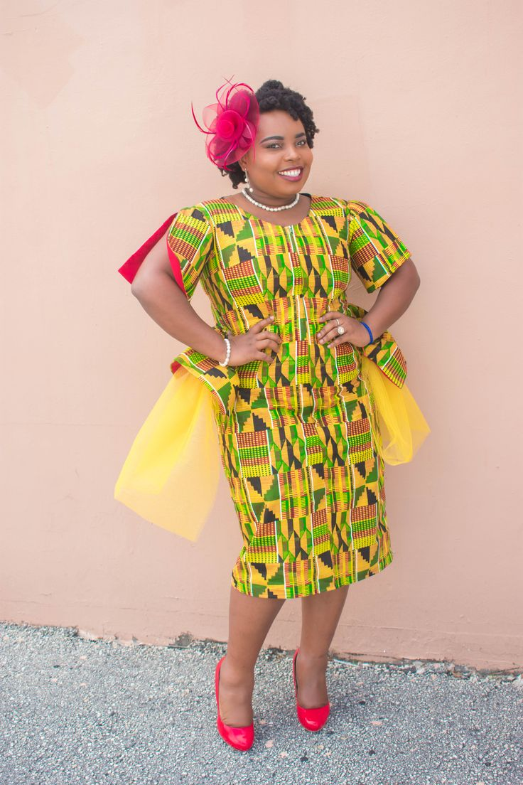 FASHION: MaJAc YELLOW KENTE FITTED DRESS Hello beautiful people! Happy New Year to you and your family! Happy Haitian Independence Day!